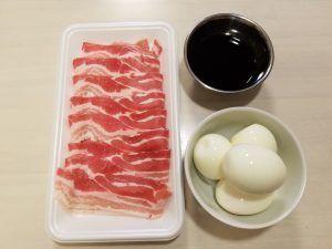 ゆで卵豚バラ巻きの材料