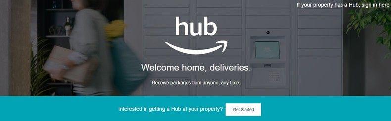 Amazon Hub ページ
