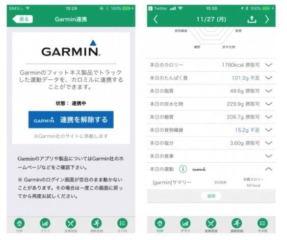 Garmin Connectとの連携