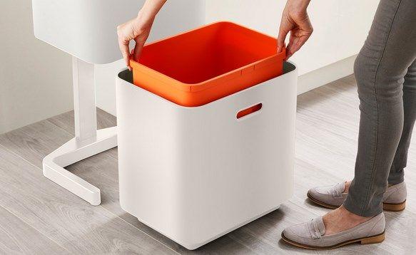 独立する下段のゴミ箱