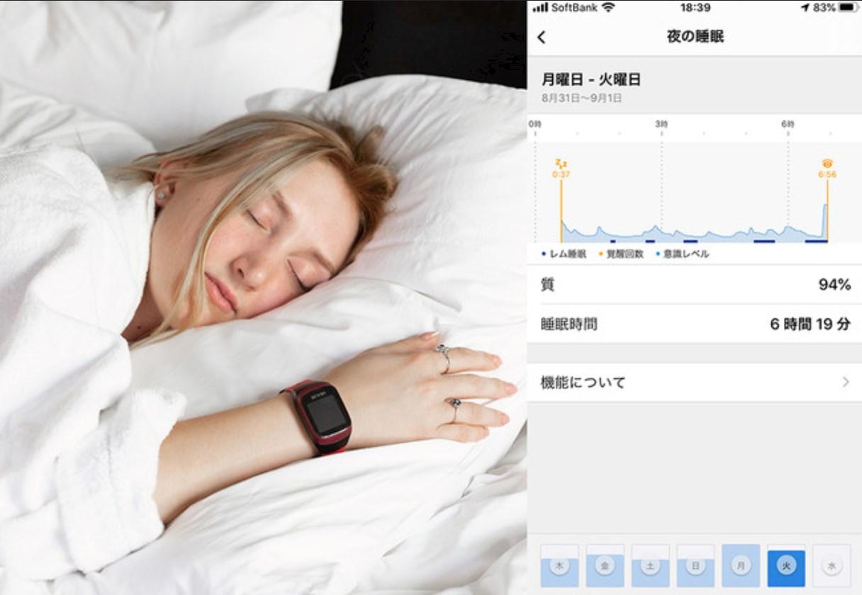 睡眠の質を計測
