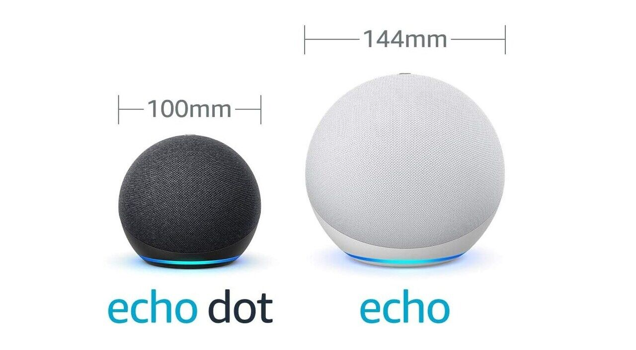 Echo と Echo Dot の大きさ