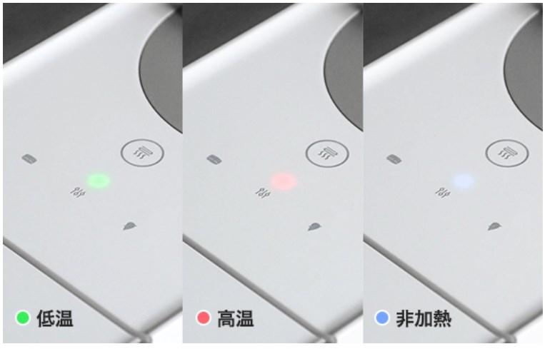 3段階の温度調節